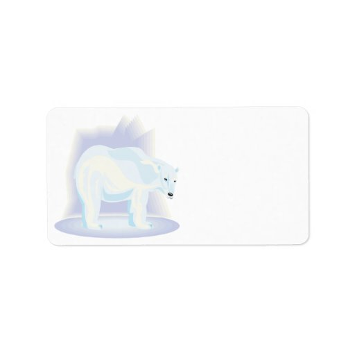 Polar Bear 2 Personalized Address Label