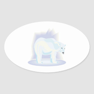 Polar Bear 2 Oval Sticker