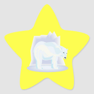 Polar Bear 2 Star Sticker