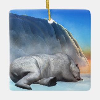Polar bear - 3D render Ceramic Ornament