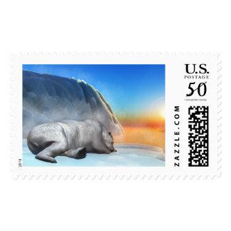 Polar bear - 3D render Postage