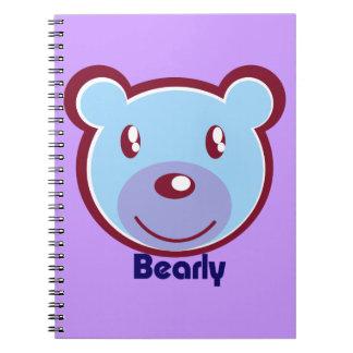 polar-bear-412138 CUTE BLUE POLAR BEAR CARTOON HAP Notebook