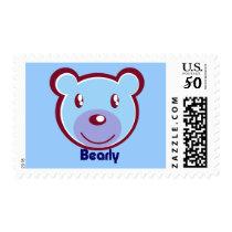 polar-bear-412138 CUTE BLUE POLAR BEAR CARTOON HAP Postage