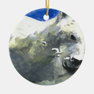 polar bear 4 ceramic ornament