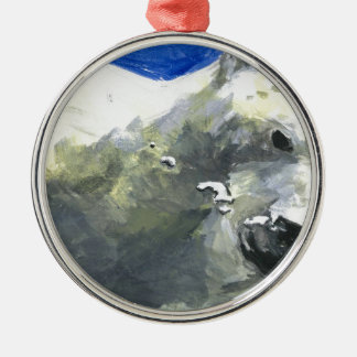 polar bear 4 metal ornament