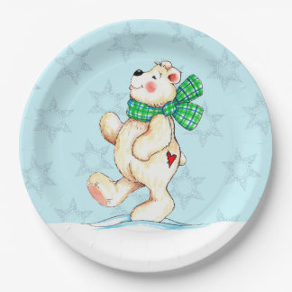 Polar Bear 9 Inch Paper Plate