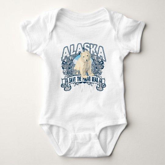Polar Bear Alaska Baby Bodysuit