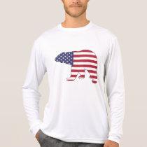 "Polar bear ""American Flag"" T-Shirt"