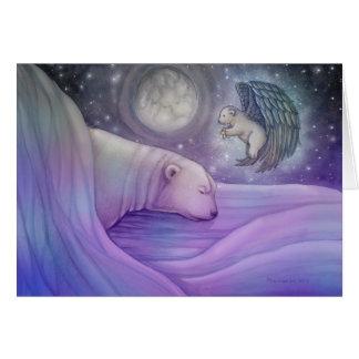 Polar bear and Angel Holiday Card