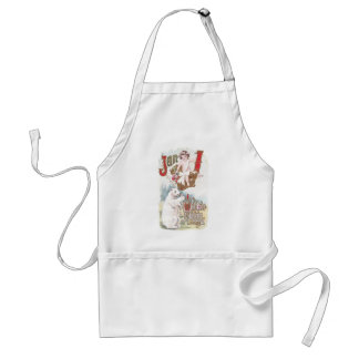 Polar Bear and Baby New Year Vintage Aprons
