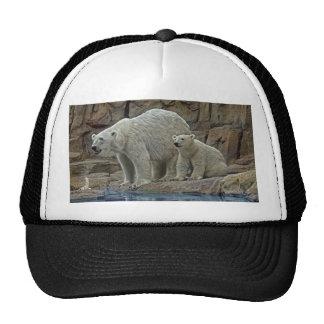 Polar Bear and Cub Ball Cap Trucker Hat