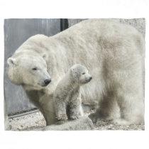 Polar Bear and Cub Blanket