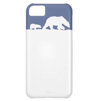 Polar Bear and Cub Case For iPhone 5C