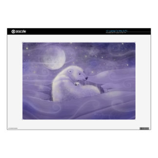 Polar Bear and Cub Fantasy Wildlife Laptop Skin