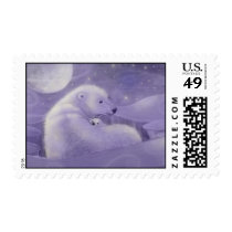 Polar Bear and Cub Holiday Postage Stamps
