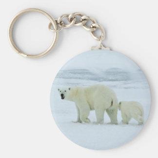 Polar Bear and Cub Keychain