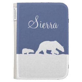 Polar Bear and Cub Kindle Case