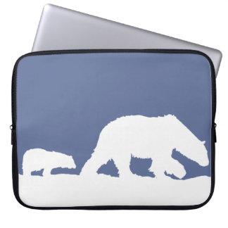 Polar Bear and Cub Laptop Sleeve