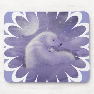 Polar Bear and Cub Mouse Pad