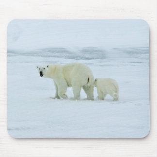 Polar Bear and Cub Mouse Pads