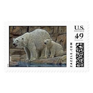 Polar Bear and Cub Postage