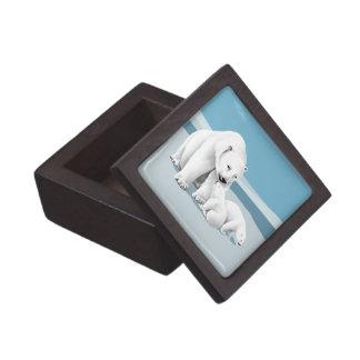 Polar Bear and Cubs Gift Box