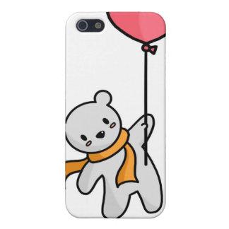 Polar Bear and Heart Balloon iPhone Case
