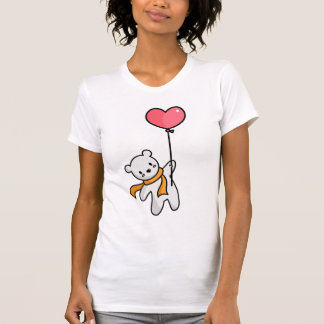 Polar Bear And Heart Balloon T-shirt