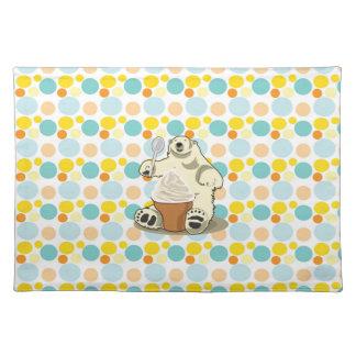 Polar bear and ice cream placemats