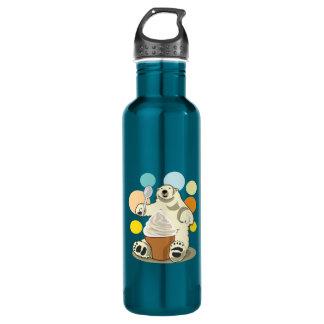 Polar bear and ice cream water bottle