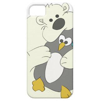 polar bear and penguin hug  iPhone 5 case