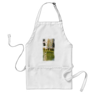 Polar Bear and Reflection Oil Painting Adult Apron