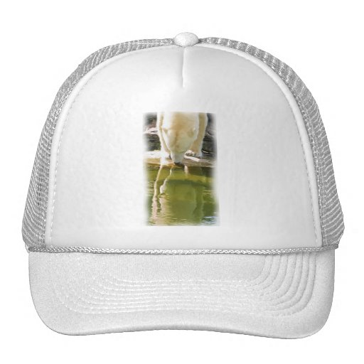 Polar Bear and Reflection Oil Painting Trucker Hat
