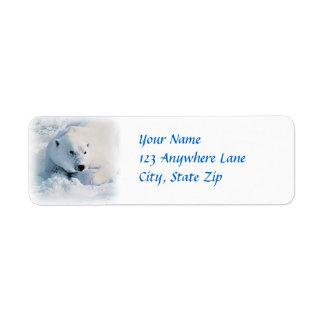 Polar Bear and Snow Label