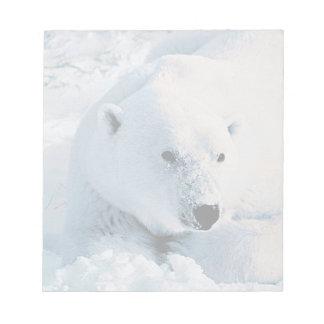 Polar Bear and Snow Notepad