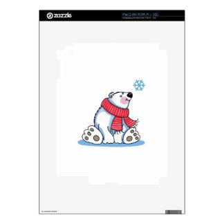 POLAR BEAR AND SNOWFLAKE DECAL FOR iPad 2