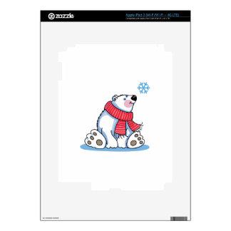 POLAR BEAR AND SNOWFLAKE iPad 3 SKINS