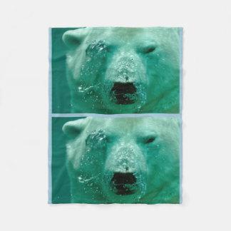 Polar Bear Animal Arctic Northern Cute Whimsical Fleece Blanket