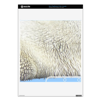 Polar Bear Animal Fur Playstation 3 Skin PS3 Slim Console Decal