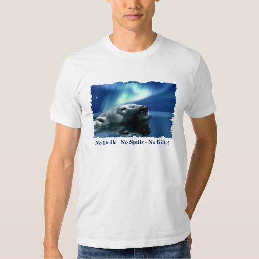 Polar Bear Anti-Oil Drilling Environmental Art Shirt