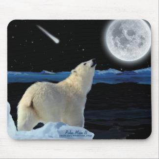 Polar Bear, & Arctic Moon Wildlife Art Mousepad