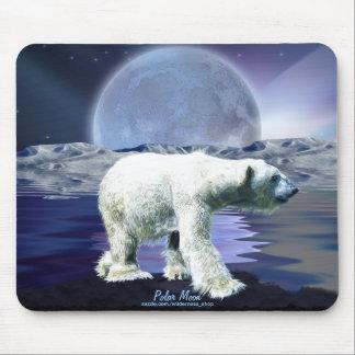 Polar Bear & Arctic Moon Wildlife Art Mousepad