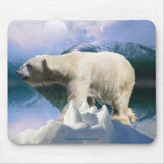 Polar Bear & Arctic Tundra Wildlife Supporter Gift Mouse Pad