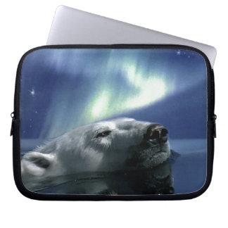 Polar Bear Arctic Wildlife Art Computer Sleeve