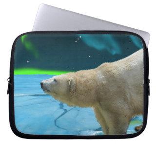 Polar Bear Arctic Wildlife Art Laptop Sleeve