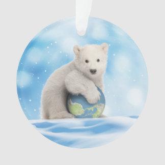 Polar Bear Arctic World Ornament
