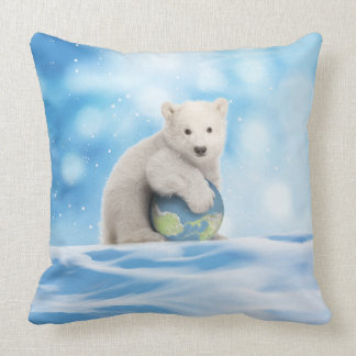 Polar Bear Arctic World Pillow