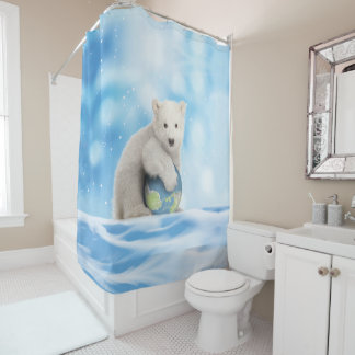 Polar Bear Arctic World Shower Curtain