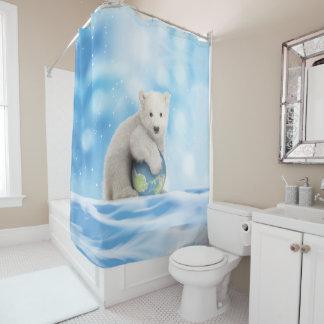 polar bear arctic world shower curtain