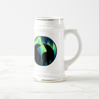 Polar Bear Art Beer Mug First Nations Bear Stein